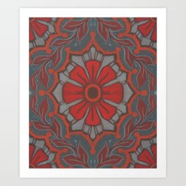 """Scarlet flower"" Art Print"