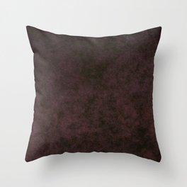 Grunge dark dirty brown ground Throw Pillow