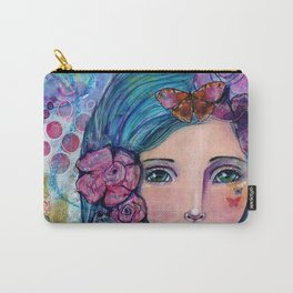 Peyton Whimsical Face Carry-All Pouch