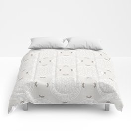 Snow Rosette Lace Comforters