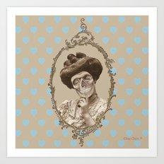 Madame Skull Art Print