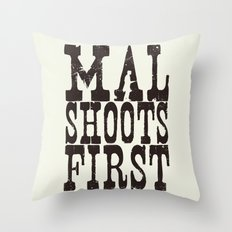 Mal Shoots First Throw Pillow