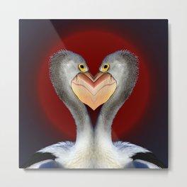 Pelican Love Metal Print