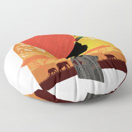 The Cradle of Civilization Floor Pillow