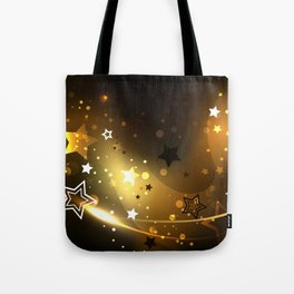 Abstract Background with Golden Stars Tote Bag