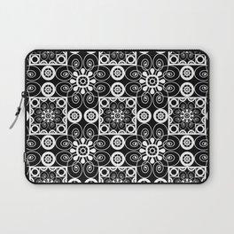 Retro .Vintage . Black and white openwork ornament . Laptop Sleeve