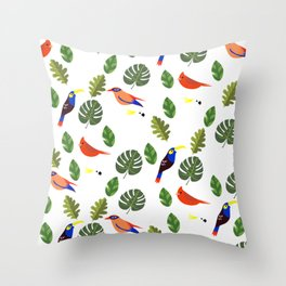 Springtime - First Birds of Spring Throw Pillow