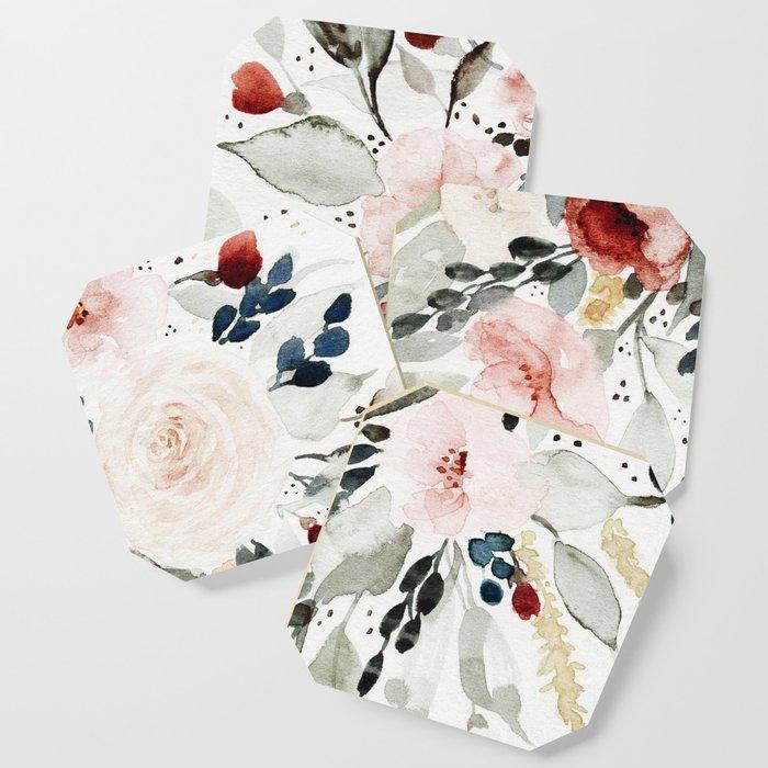 Loose Watercolor Bouquet Coaster