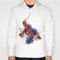 spider man Hoodies featuring Spider-Man  by Isaak_Rodriguez