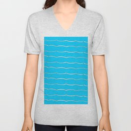 blue abstraction 5 – abstraction,abstract,minimalism,cerulean, bluish,reverie Unisex V-Neck