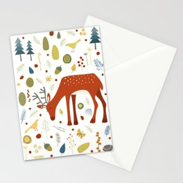 Deer and Forest Things Stationery Cards