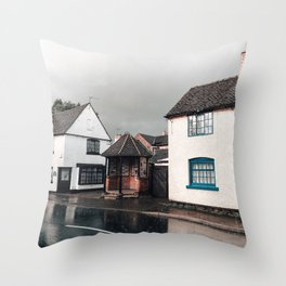 Rainy day in Derbyshire Throw Pillow