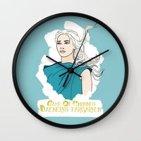danny ivan Wall Clocks featuring Danny by JessicaJaneIllustration