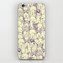 just alpacas purple cream iPhone Skin