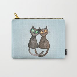 Two cute loving cats Carry-All Pouch