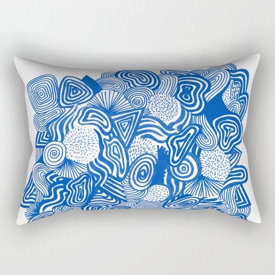 Blue Whirlpool Rectangular Pillow
