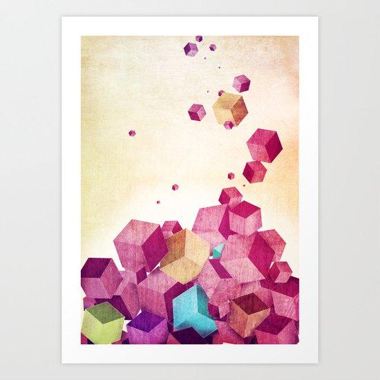 color cubes Art Print