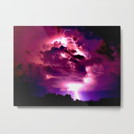 Embrace the Storm Metal Print