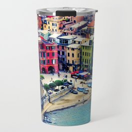 Italy Liguria Cinque Terre Seaside Colorful Houses Travel Mug