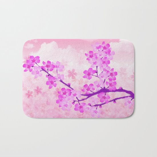 Cherry Blossom - Variation 4 Bath Mat