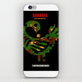 SANKOFA - Learn from the Past! iPhone Skin