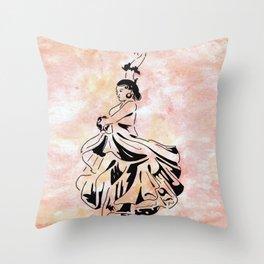 The Flamenco of Kali Sara (flamenco dancer) Throw Pillow