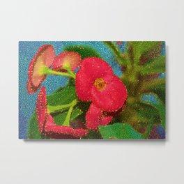 mémoire florale Metal Print