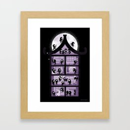 A House full of Ninjas Framed Art Print