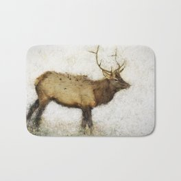 Grand Canyon Elk No. 1 Wintered Bath Mat