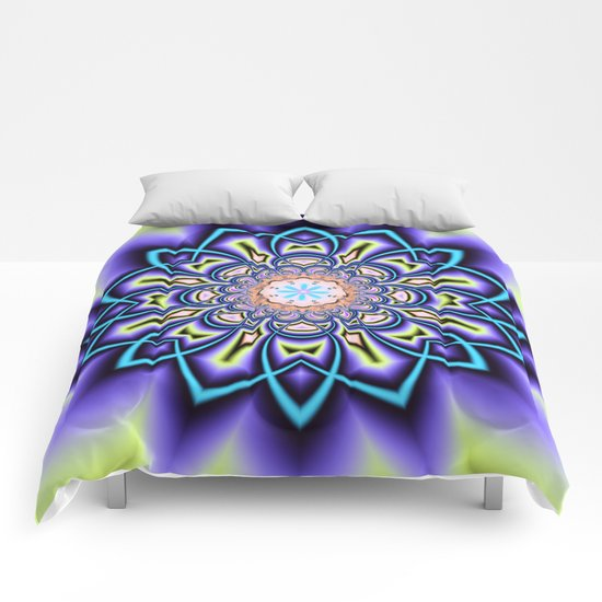 Geometric starry fantasy flower Comforters