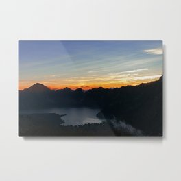 Sunrise at Rinjani Metal Print