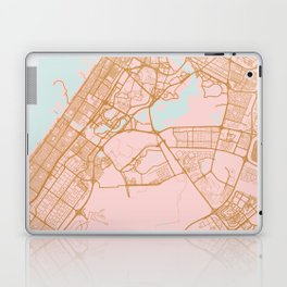 Dubai map, United Arab Emirates Laptop & iPad Skin