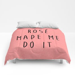 Rosé Do It Funny Quote Comforters