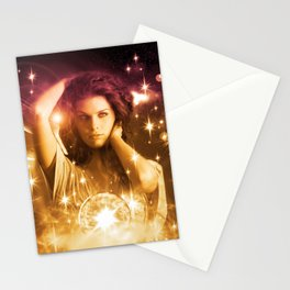 Cosmic Hot Girl Stationery Cards