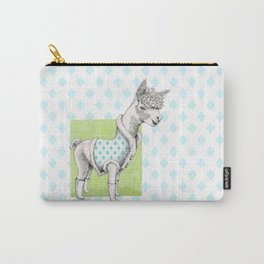 Alpaca in a Coat Carry-All Pouch