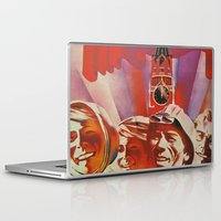 soviet Laptop & iPad Skins featuring Labour communist propaganda in soviet union cccp sssr by Sofia Youshi
