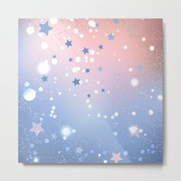 Rose Quartz and Serenity Background Metal Print