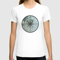compass T-shirts featuring Compass by madbiffymorghulis