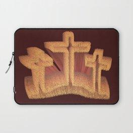 Three Crosses at Calvary Laptop Sleeve
