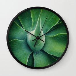 Green Sun Wall Clock