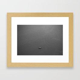 Lonely fisherman Framed Art Print