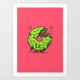 Zombie Donut 02 Art Print