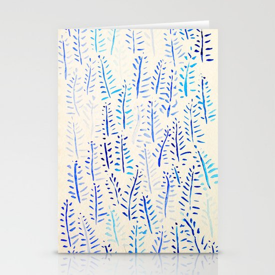 Blue Fern Stationery Cards