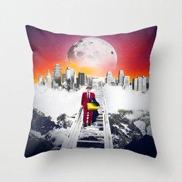 Super Commuter Throw Pillow