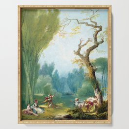 Jean-Honoré Fragonard A Game of Horse and Rider Serving Tray