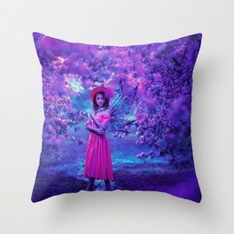 Cherry blossom Fairy Throw Pillow