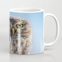 Cute Barn Owl Making Eye Contact Vector Coffee Mug