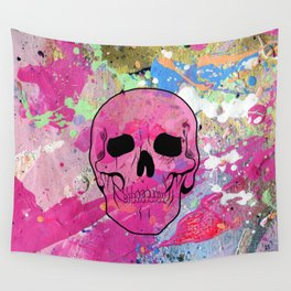 Skull collage Wall Tapestry