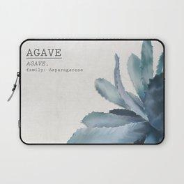 Agave, botanic print - grey Laptop Sleeve