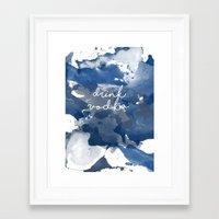 vodka Framed Art Prints featuring Drink Vodka by Mikayla Belle